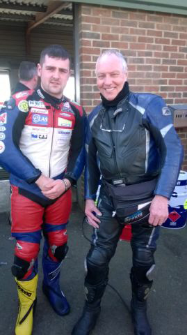 John Sedgwick with Michael Dunlop