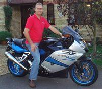 Phil on his K1200S