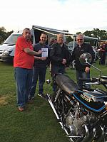 Winner Mark Daniel with his 1976 GS 750